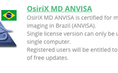 Osirix para ANVISA